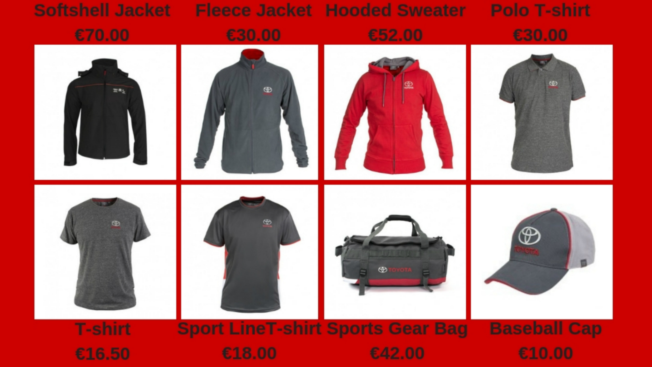 Toyota Men's Merchandise